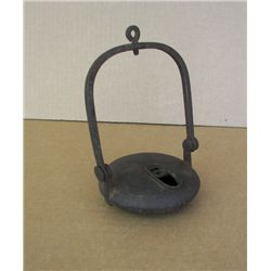 Antique Iron Betty Oil Lamp