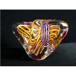 Glass Sculpture, Signed Schmidt/Rhia