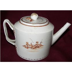 Chinese Export Tea Pot