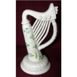 Irish Beelleek Shamrockware, Harp