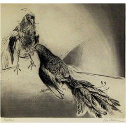 Tom Chouteau, Etching