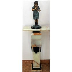 Bronze Sculpture by Moreau  Bubbles  with Pedestal