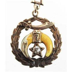 ET0503120055 10K YELLOW GOLD NECKLACE SHRINER PENDANT