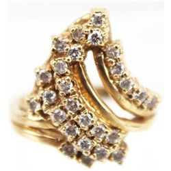 ET0503120050 LADIES 14K GOLD DIAMOND CLUSTER RING