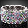 GT0522120044 Exquisite Multicolor Crystal Stretch Bangl