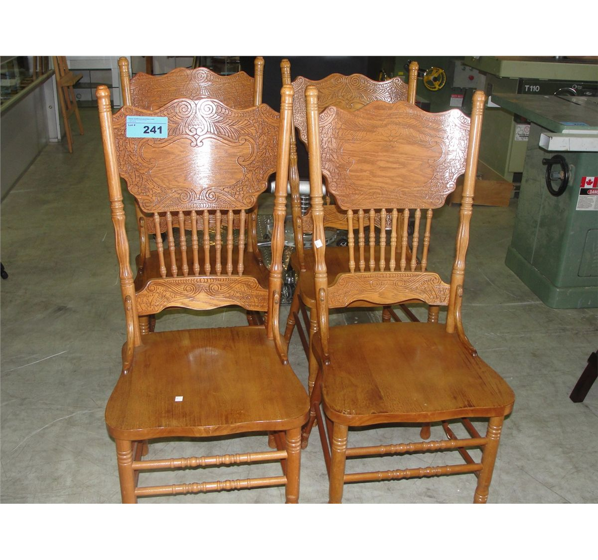 Pressed wood oak dining room side chair for Wooden dining room chairs