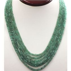 Emerald round 6 rows 240.10 ctw Necklace