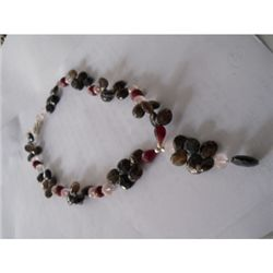 283.00 ctw Semi Precious Necklace .925 Sterling