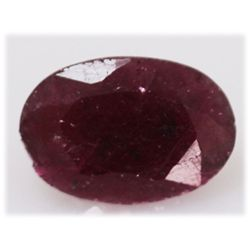 NATURAL 11.81 CTW AFRICAN RUBY OVAL