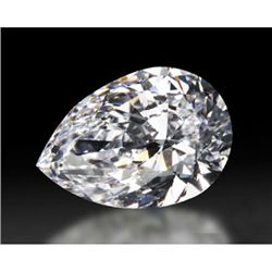 Diamond GIA Cert Pear 0.72 ctw D, SI1