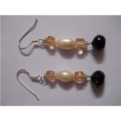 35.0 ctw Semi Precious Earring .925 Sterling Silver
