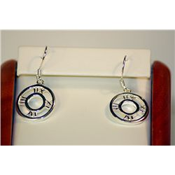 Lady's Fancy Unique Tiffany Designed Sterling Silver Earrings