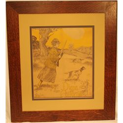 """Diana of California"" Framed Picture"