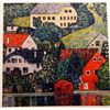 Gustave Klimt FORESTERS HOUSES at UNTERACH Signed Limited Ed. Lithograph