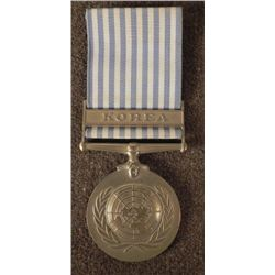 "OUTSTANDING UNITED NATIONS ""KOREA SERVICE"" MEDAL-W/ BAR"