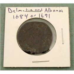 Coin From Dalmatia & Albania 1864 or 1691