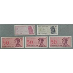 5 Crisp UNC 1864 Bank of Indonesia