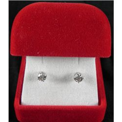 14K White Gold .50 Carat Diamond Earrings