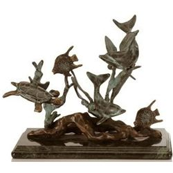 Dolphin & Sealife Bronze Sculpture