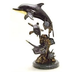 Dolphin & Friends Bronze Sculpture