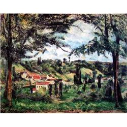 "Cezanne ""Village Framed By Trees"""