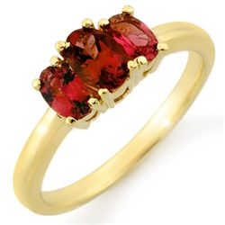 Genuine 1.18 ctw Pink Tourmaline Ring 10K Yellow Gold