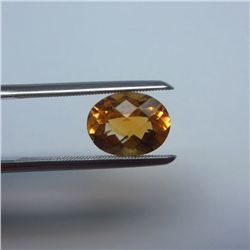 Loose Natural Citrine Oval 14mm x 12mm LIGHT ORANGE color tone