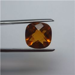 Loose Natural Citrine Cushion 10mm x 10mm VERY NICE color tone