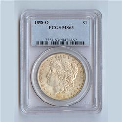 1898 Morgan Silver Dollar MS63 PCGS Certified - P1898