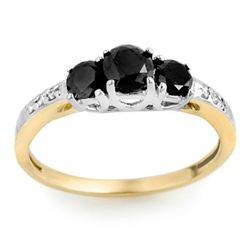 Natural 1.05 ctw Diamond Ring 14K Multi tone Gold