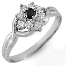 Natural 0.33 ctw White & Black Diamond Ring 10K Gold