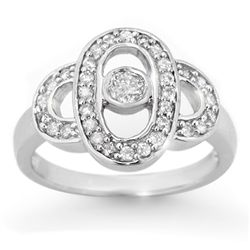 Natural 0.55 ctw Diamond Engagement Ring 10K White Gold