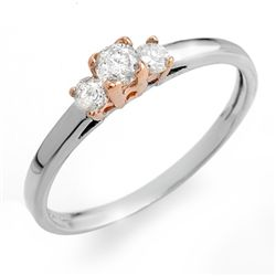 Natural 0.33 ctw Diamond Ring 14K Multi tone Gold