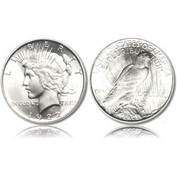 Peace Silver Dollar Coins - 1921 to 1935 - CIRCULATED
