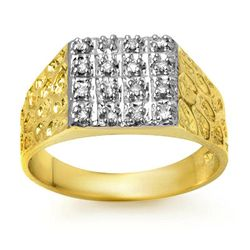 Natural 0.25 ctw Diamond Men's Ring 10K Yellow Gold