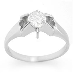 Natural 0.52 ctw Diamond Ring 14K White Gold
