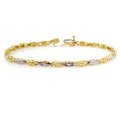 Natural 0.03 ctw Diamond Bracelet 10K Yellow Gold