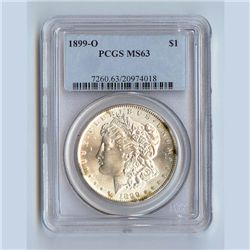 1899 Morgan Silver Dollar MS63 PCGS Certified - P1899