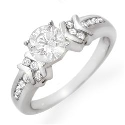 Natural 1.10 ctw Diamond Ring 14K White Gold