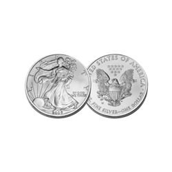 BRILLIANT UNCIRCULATED 1oz Silver American Eagle - Random Date