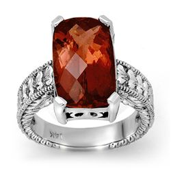 Genuine 9 ctw Rubellite Ring 14k Gold