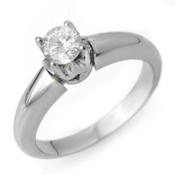 Natural 0.50 ctw Diamond Ring 14K White Gold