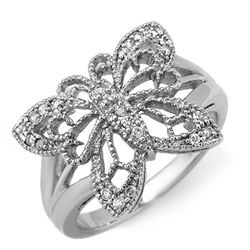 Natural 0.25 ctw Diamond Bridal Ring 10K White Gold
