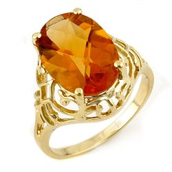 Genuine 6.50 ctw Citrine Ring 10K Yellow Gold