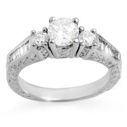 Natural 1.01 ctw Diamond Ring 14K White Gold
