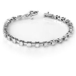 Natural 5.0 ctw Diamond Bracelet 10K White Gold