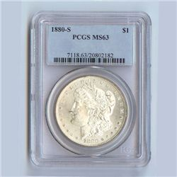 1880 Morgan Silver Dollar MS63 PCGS Certified - P1880