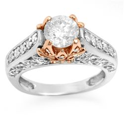 Natural 2.01 ctw Diamond Ring 14K Multi tone Gold