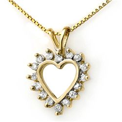 Natural 0.50 ctw Diamond Pendant 14K Yellow Gold