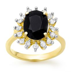 Genuine 3.67 ctw Sapphire & Diamond Ring 10K Yellow Gold